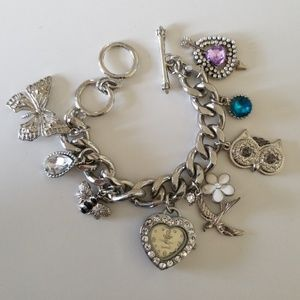 Figaro Couture Heart Watch and Charm Bracelet